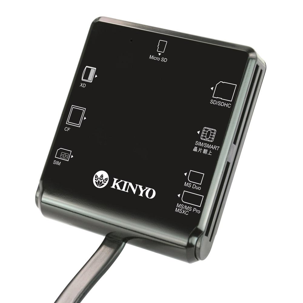 ~KINYO~多合一7插槽晶片讀卡機 KCR~359