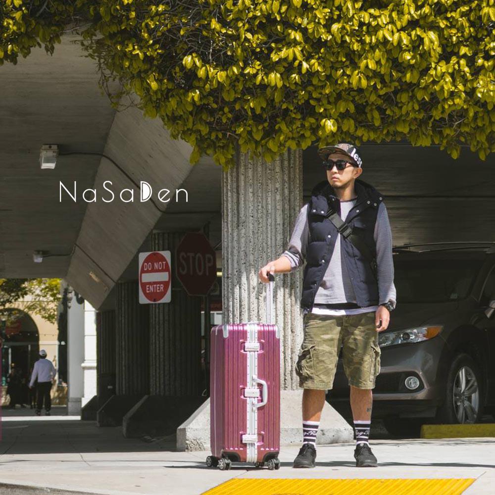 【德国纳莎登NaSaDen】林德霍夫系列-29吋发丝纹铝框行李箱_波尔多红