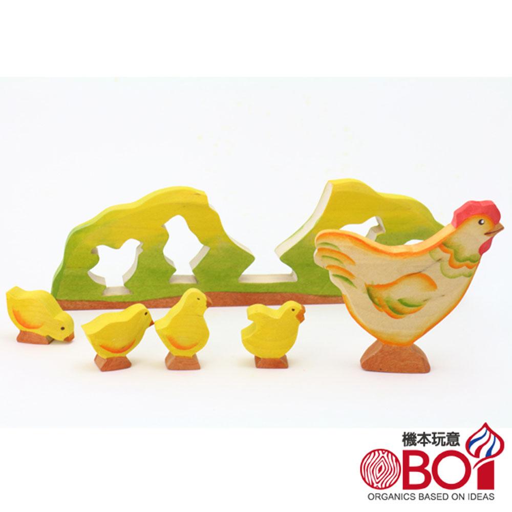 俄羅斯積木 ~~ 淳木童話 ~~ 立體拼圖系列: 母雞帶小雞
