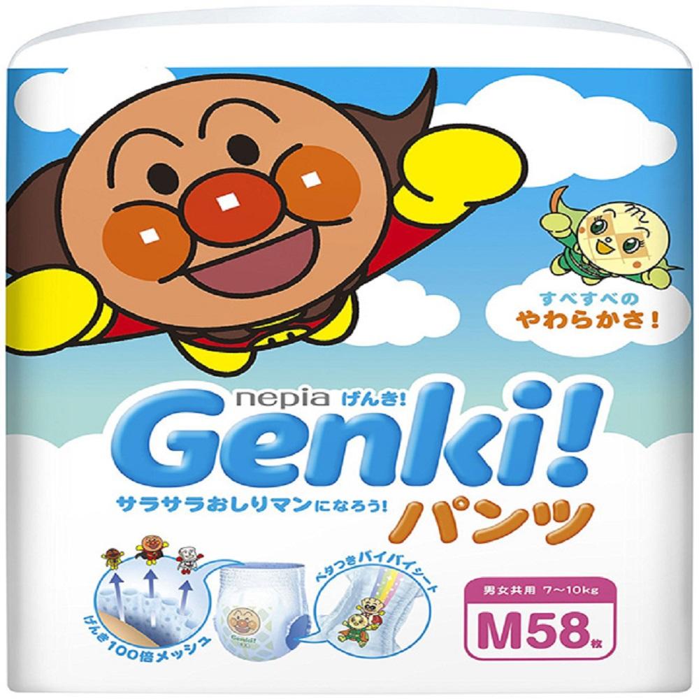 nepia GenKi! 王子 麵包超人紙尿褲(褲型)-M