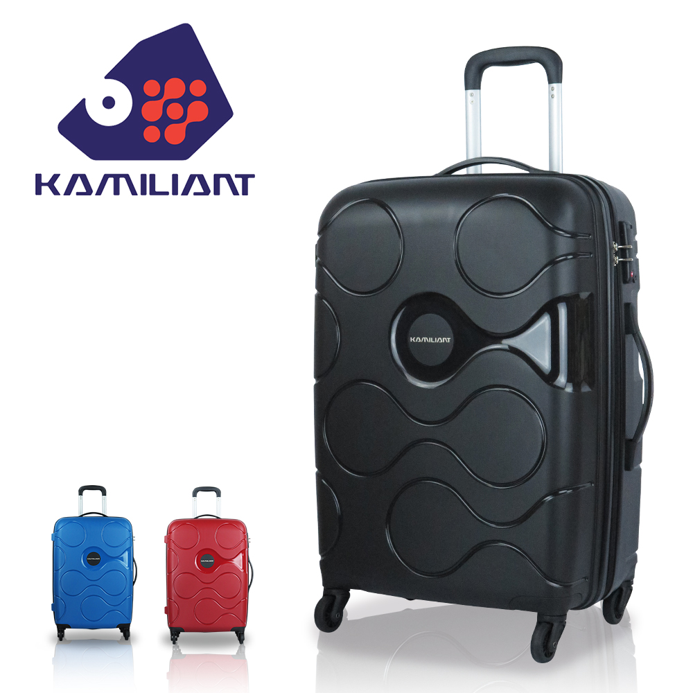 【新秀丽 Kamiliant 卡米龙】静音轮28吋 雾面轻量 普普星球 行李箱 PP材质 旅行箱(时尚黑)