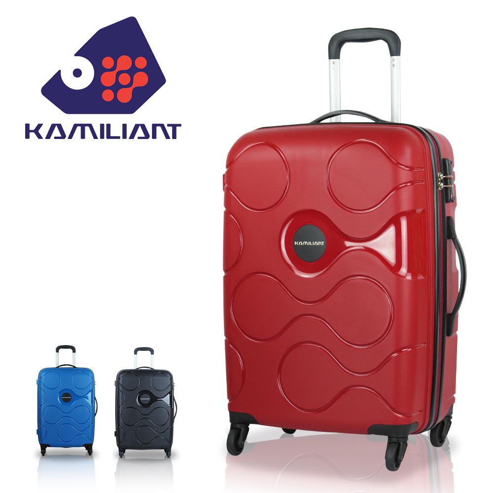 【新秀丽 Kamiliant 卡米龙】静音轮28吋 雾面轻量 普普星球 行李箱 PP材质 旅行箱(高贵红)