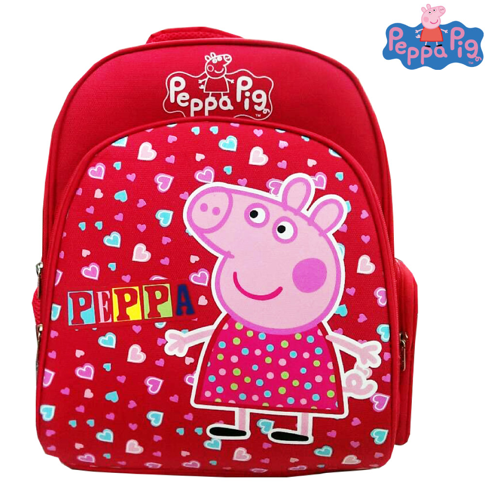 Peppa Pig 粉紅豬 EVA 護脊書包(紅)PP571500A