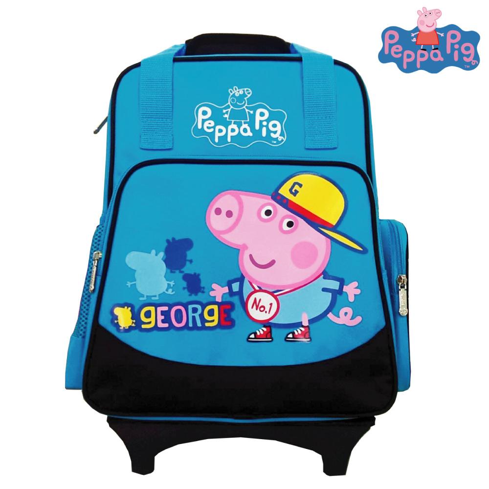 Peppa Pig 粉紅豬 兩用可拆式鋁合金拉桿(水藍)PP581400B