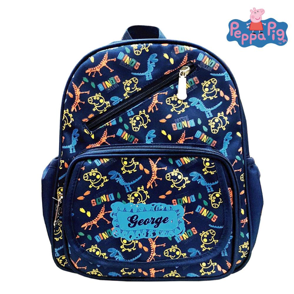 Peppa Pig 粉紅豬 圖騰兒童後背包(深藍)PP582100B