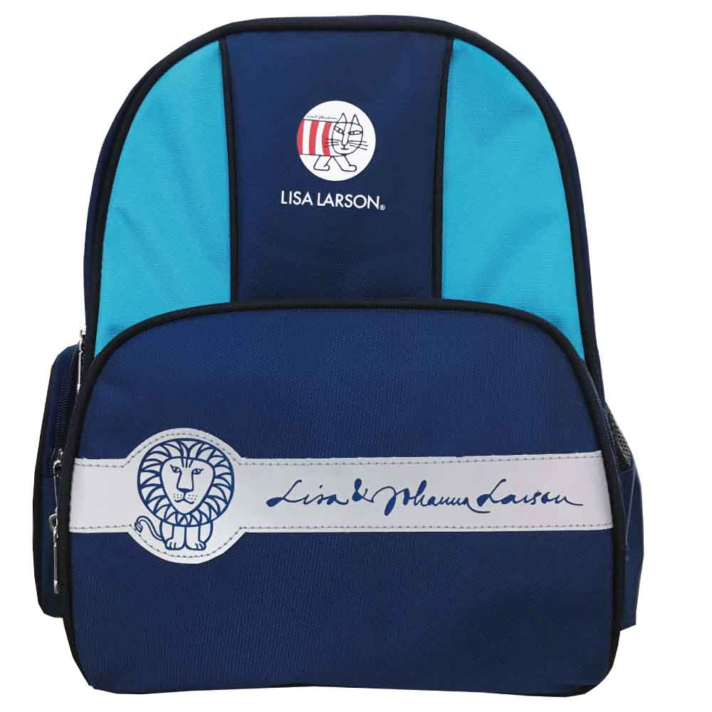 Lisa Larson 反光護脊後背包(藍)LS589000A