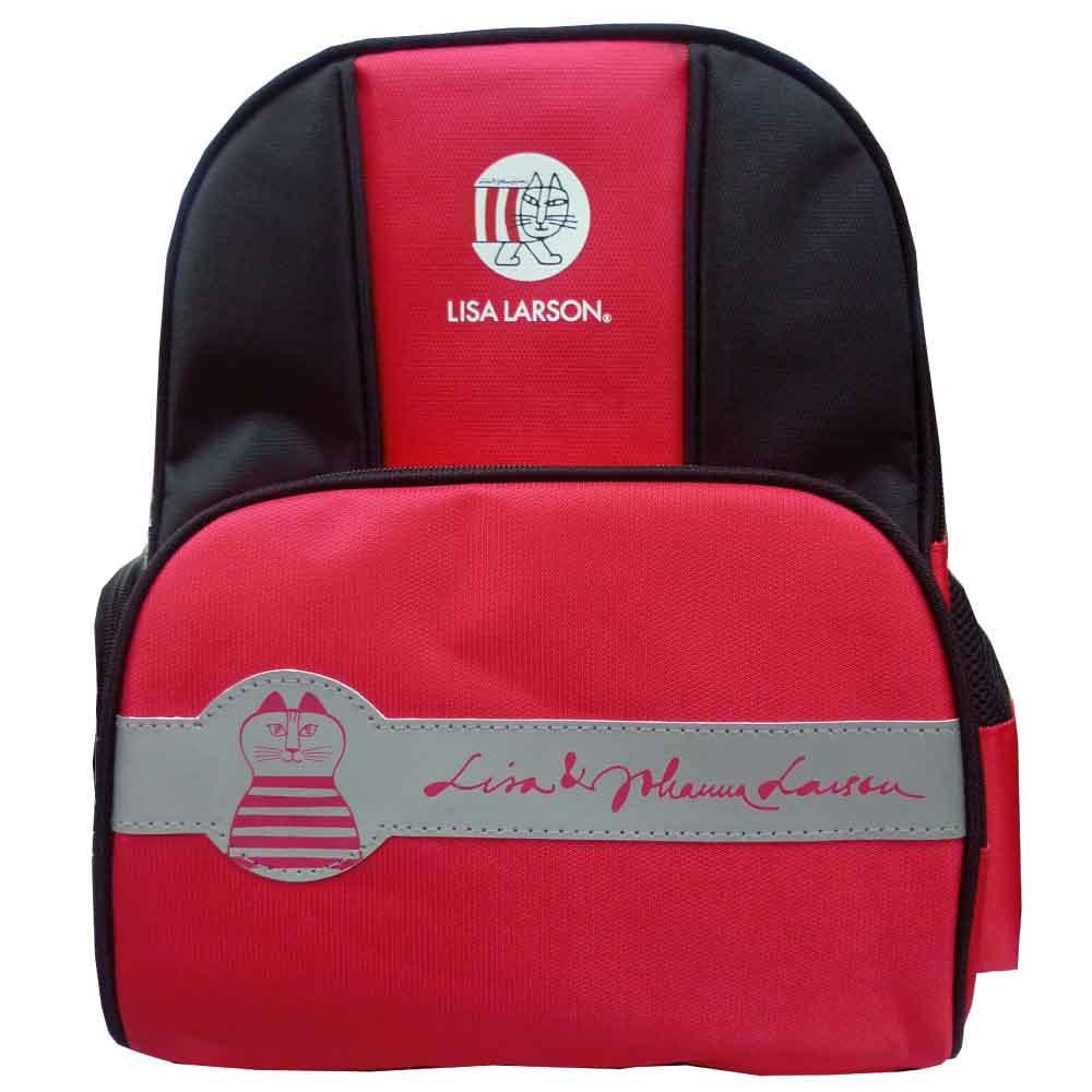 Lisa Larson 反光護脊後背包(紅)LS589000B