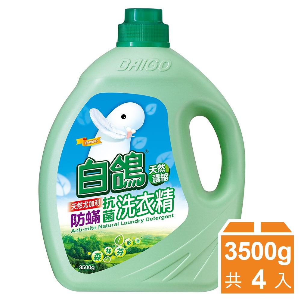 【白鸽】天然浓缩抗菌洗衣精 尤加利防蹒-3500gx4瓶