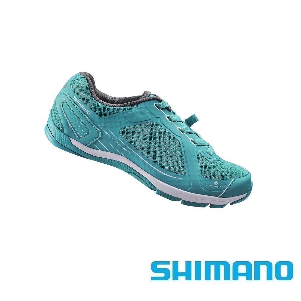 【SHIMANO 自行车鞋】SH-CW41 女性公路车旅行车鞋 ★铬绿色