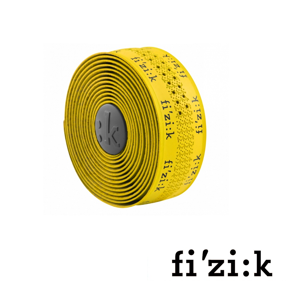 【fizik 車把帶】SUPERLIGHT TACKY TOUCH 2mm 車手把帶★ 黃色+黑色LOGO