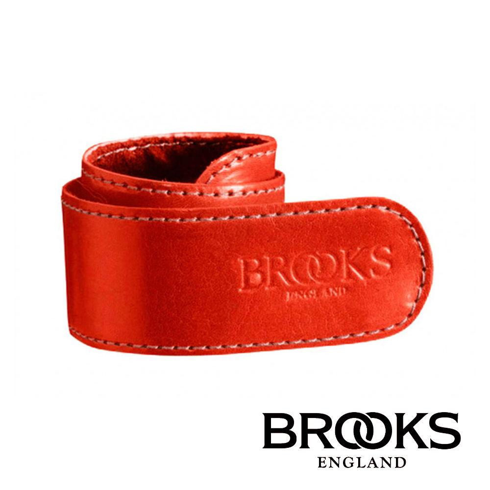 【BROOKS】長褲皮革束套 紅