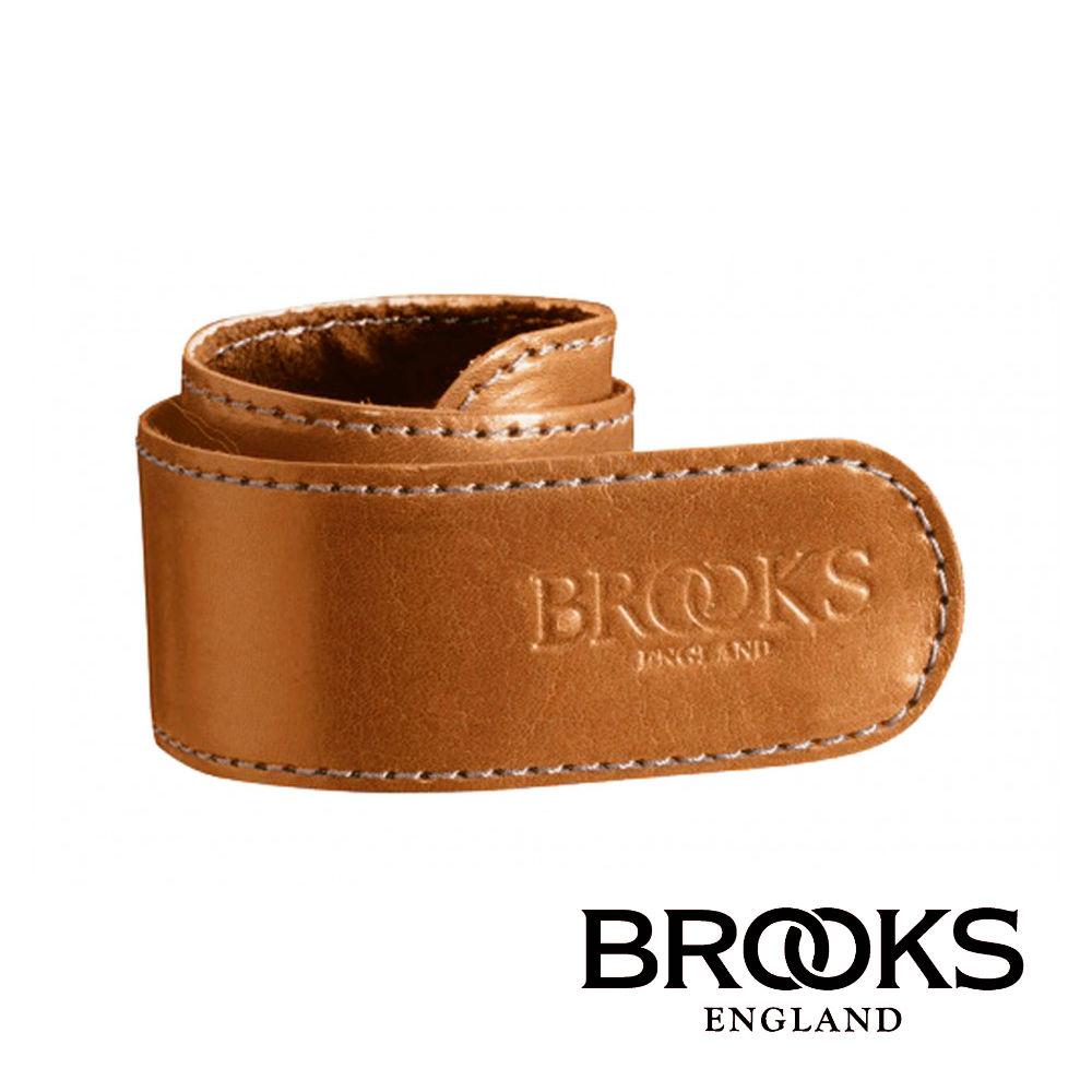 【BROOKS】長褲皮革束套 蜂蜜