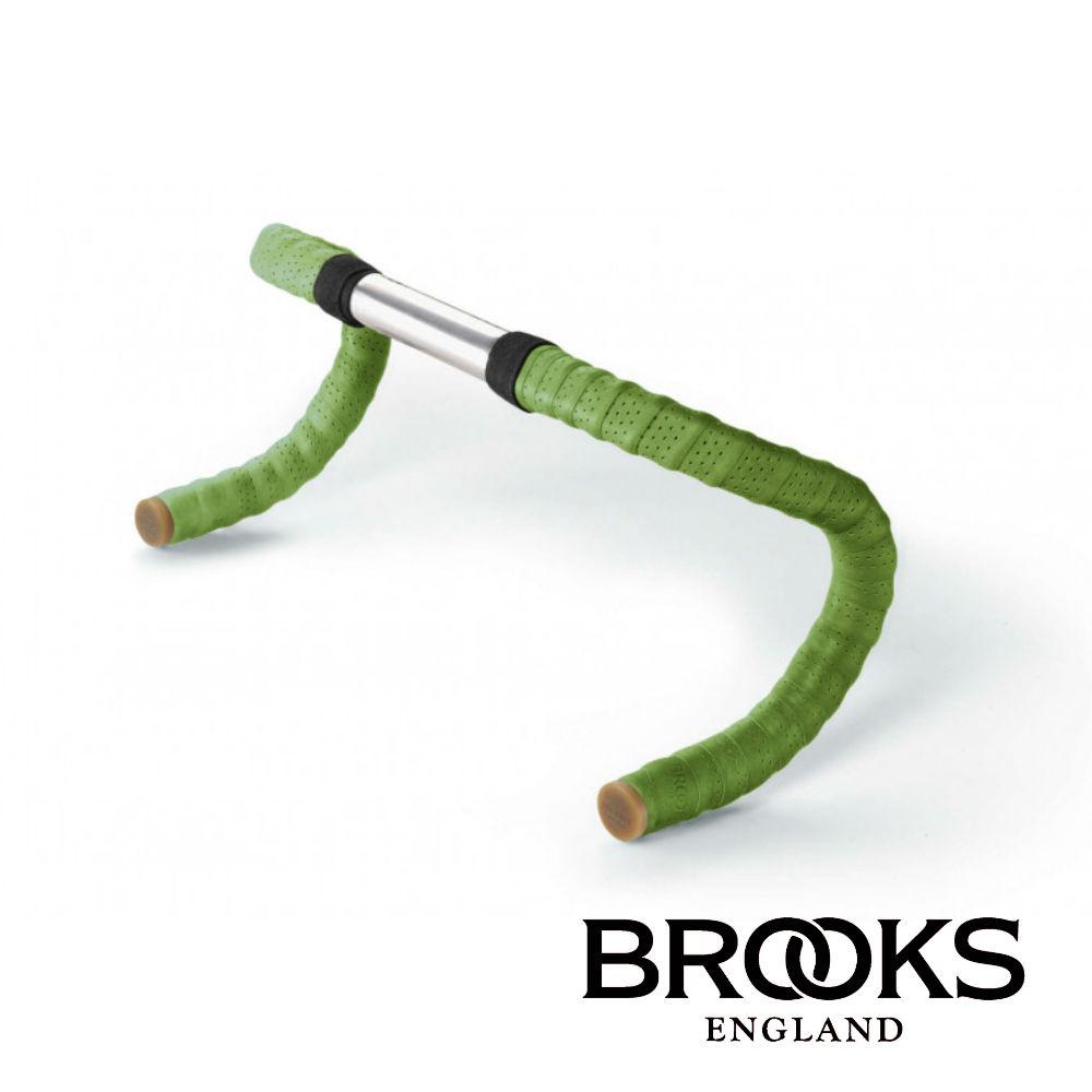 【BROOKS】皮革車把帶(附橡膠端塞) 蘋果綠