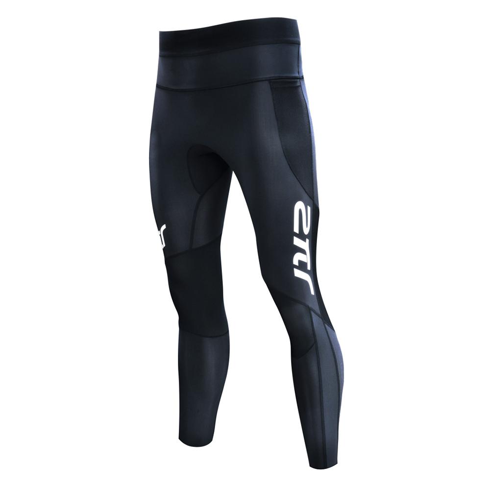 【2PIR 壓力褲】男款3D立體支撐壓力褲 皓月白色