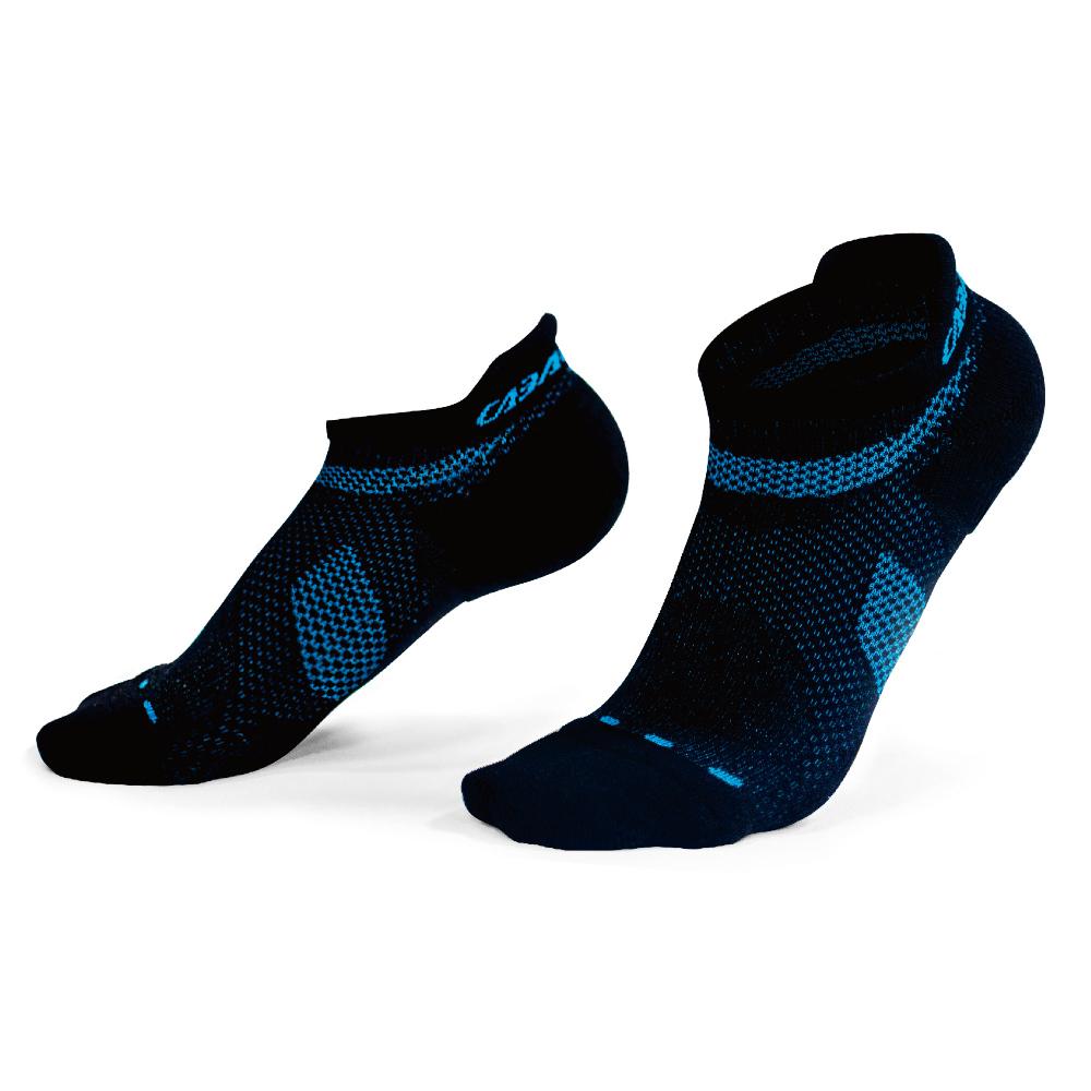 【CABALLERO】自行車運動襪 黑/天空藍