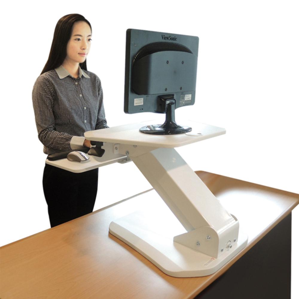 aka桌上型坐站升降桌(白色)