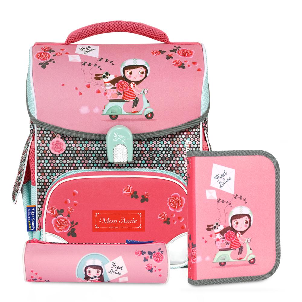 Tiger Family小學者超輕量護脊書包-BUBU少女(送文具袋+鉛筆盒)