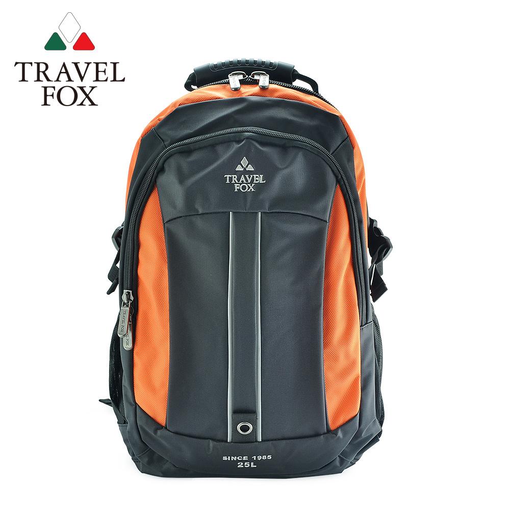 【TRAVEL FOX 旅狐】雙色尼龍輕量休閒後背包  TB586-16  橘色