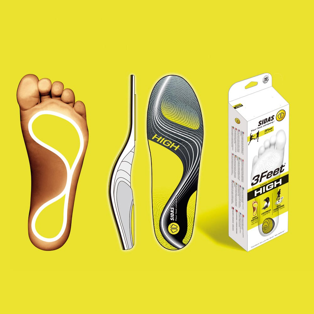【SIDAS】SIDAS 3feet® 法国 顶级运动鞋垫 高足弓适用 专业型 鞋垫