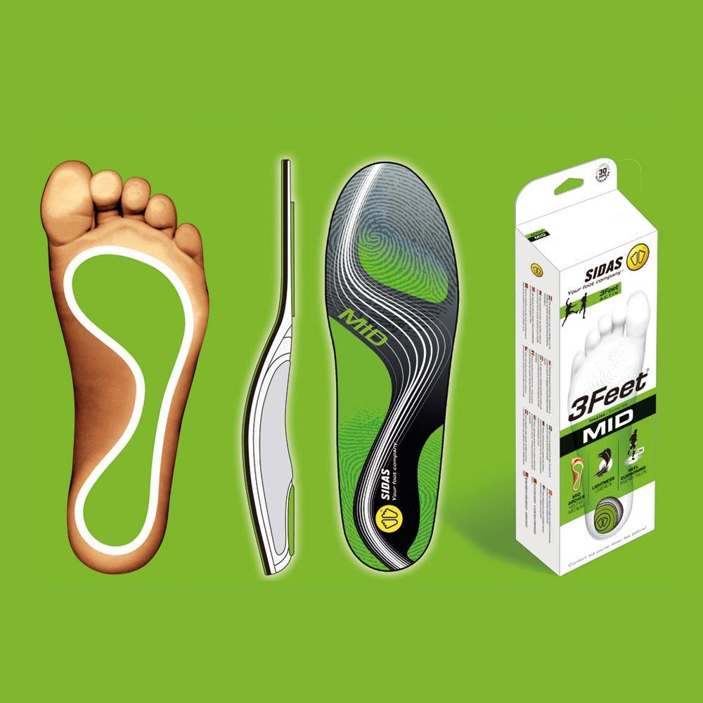 【SIDAS】SIDAS 3feet® 法国 顶级运动鞋垫 中足弓适用 专业型 鞋垫