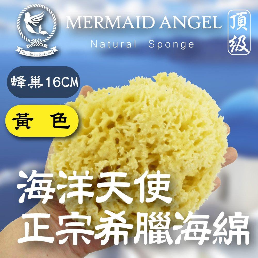 ★海洋天使•Mermaid Angel★ 頂級希臘天然海綿 (蜂巢16公分)