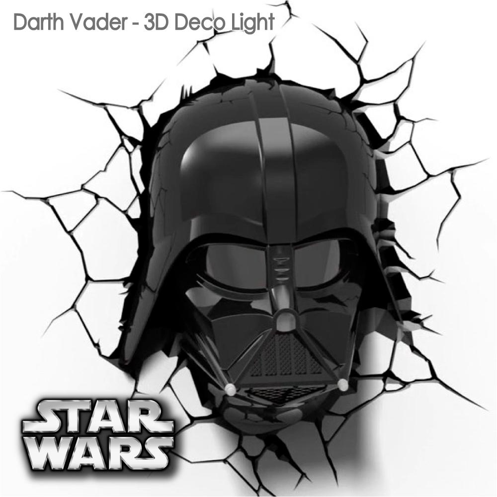 【星際大戰 STAR WARS   ▪   黑武士頭盔  ▪ 】立體造型壁燈