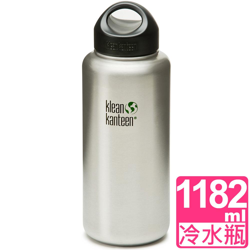 Klean Kanteen 宽口不锈钢冷水瓶1182ml 原钢色