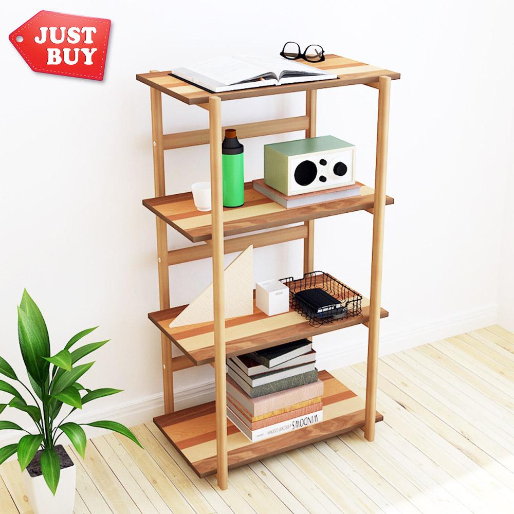 【JUSTBUY】伊達日式拼木四層置物架