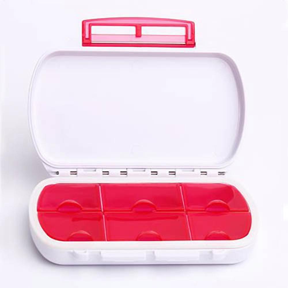 攜帶型防潮防水6格密封圈藥盒/收納盒(CC-SB01)