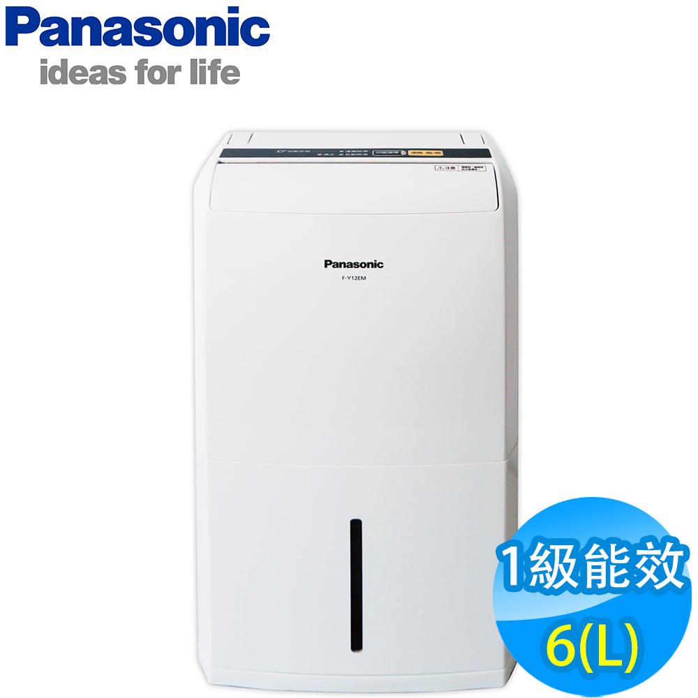 ★ 贈日式五入碗 SP-2006 ★ Panasonic 國際牌 6公升LED面板清淨除濕機 F-Y12EM