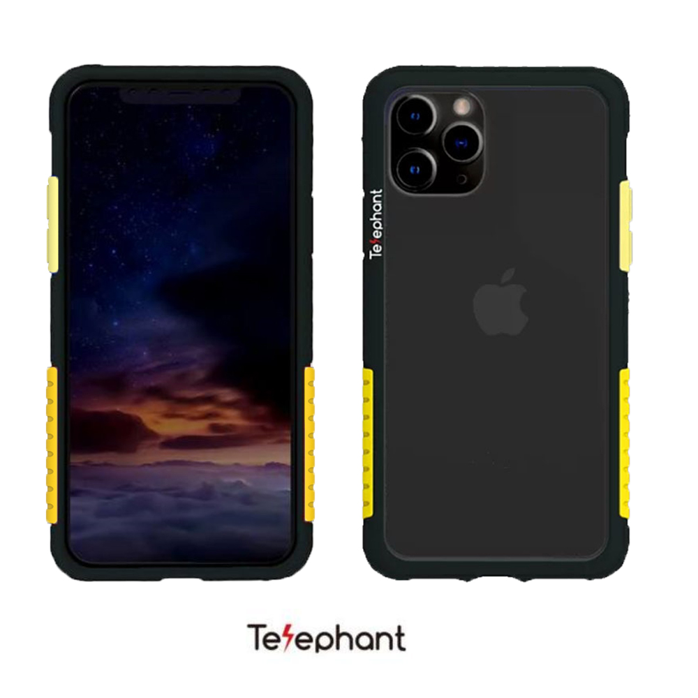 太樂芬 NMDer 防摔殼 黑框黃 iPhone 11 Pro
