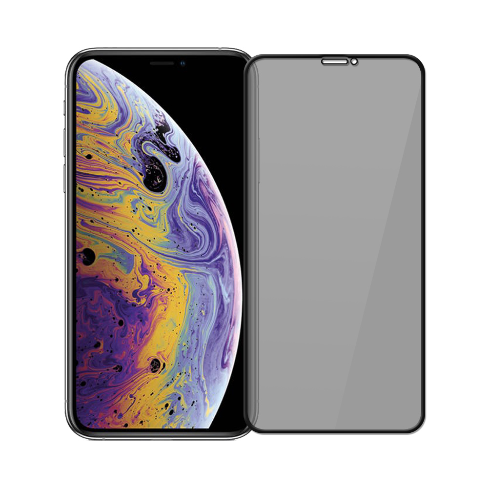 【SHOWHAN】iPhone 11 Pro /Xs/X 高透防窺9H鋼化玻璃保護貼-黑