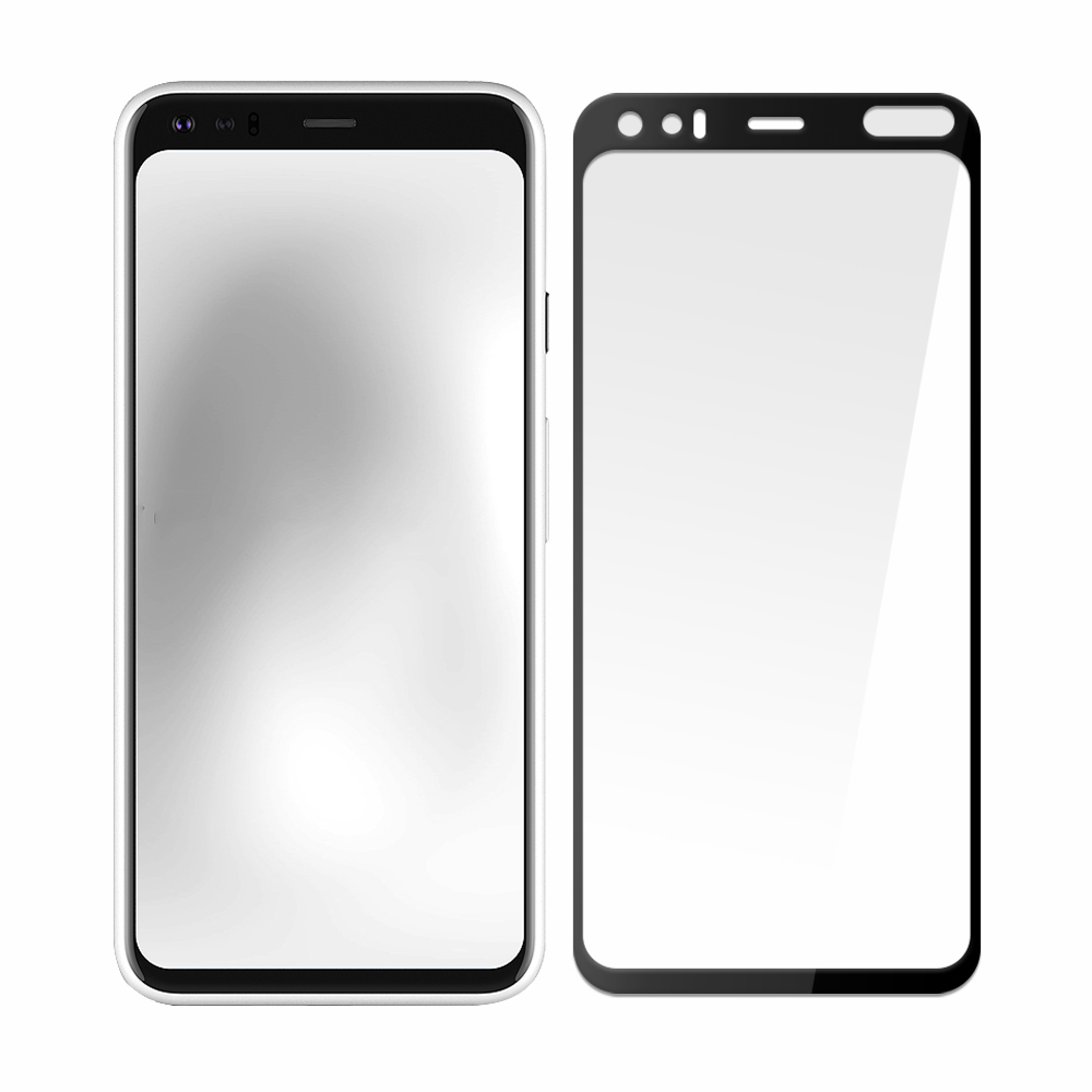 【SHOWHAN】全膠滿版 Google Pixel 4XL 鋼化日規玻璃保護貼-黑