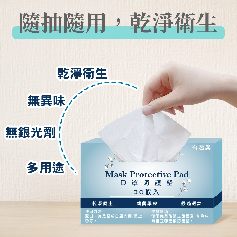 [預購](3盒1組)口罩防塵保潔墊(30片/盒) 防護墊