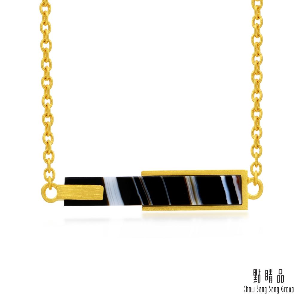 點睛品 g*系列 黑瑪瑙黃金項鍊