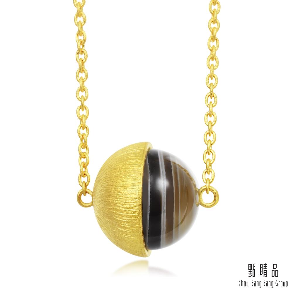 點睛品 g*系列 波斯瑪瑙圓珠黃金項鍊