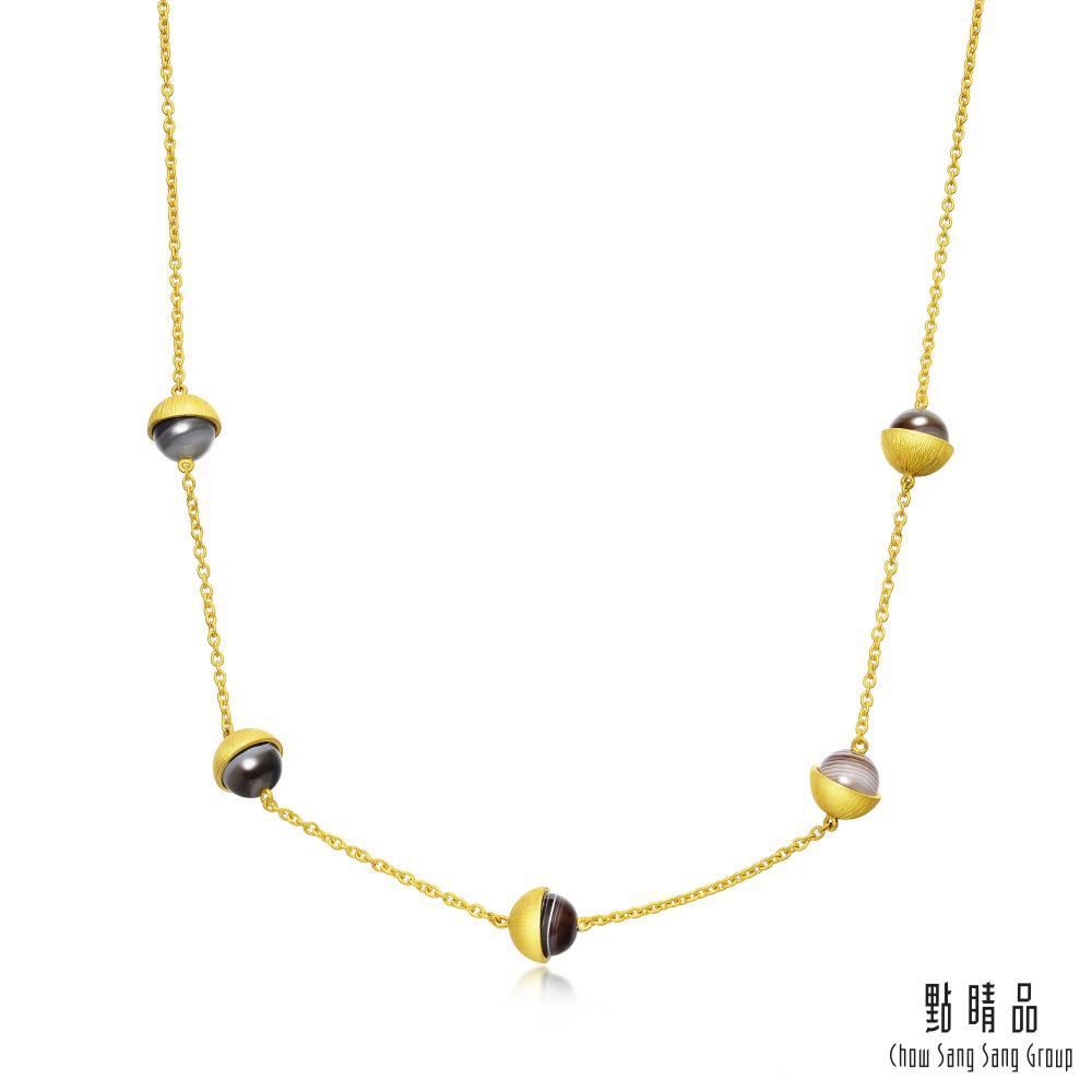 點睛品 g*系列 波斯瑪瑙黃金項鍊