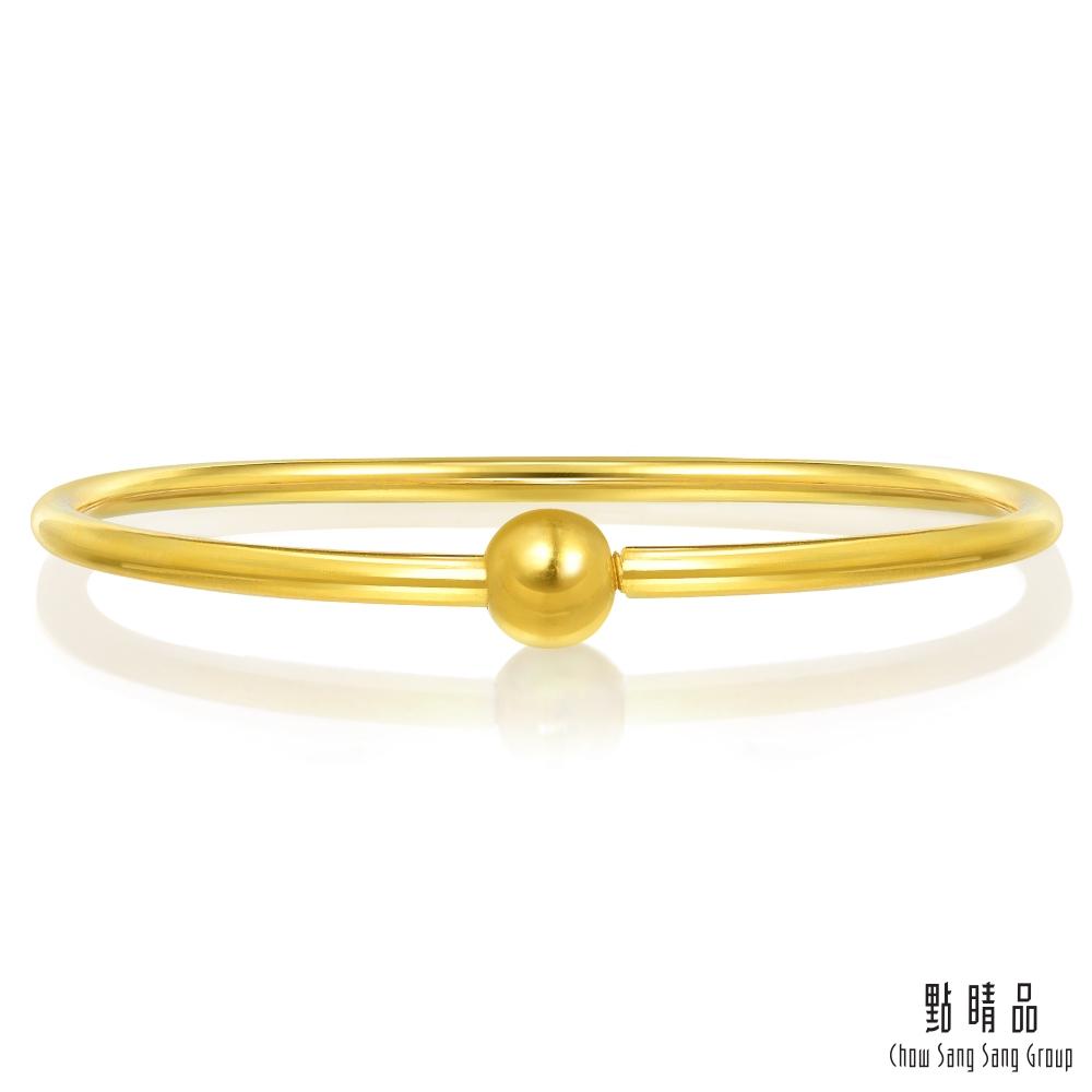 點睛品 時尚素雅黃金手環/手鐲-計價黃金