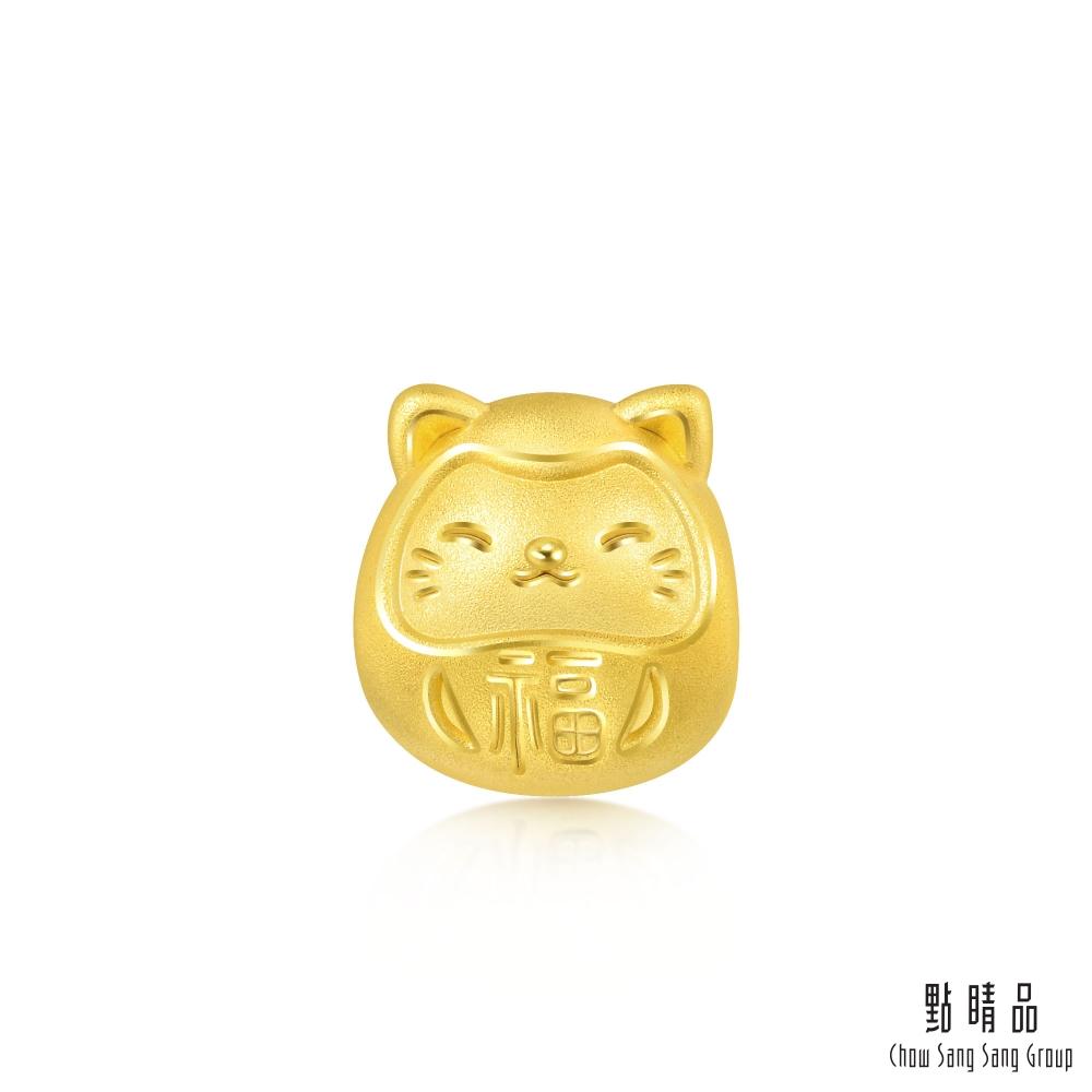點睛品 Charme Mini 開運達摩貓 黃金串珠