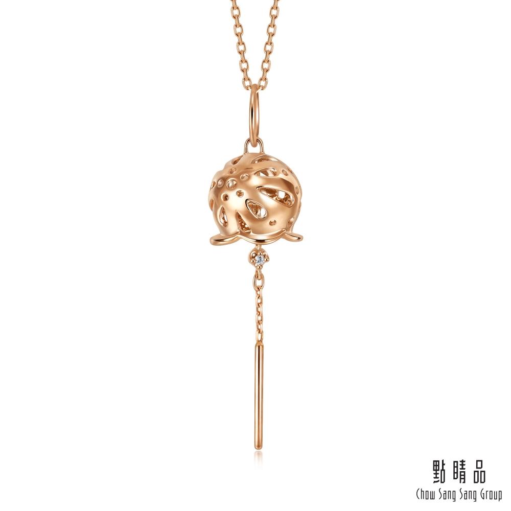 點睛品 Journey遇見 日式風鈴 18K玫瑰金項鍊