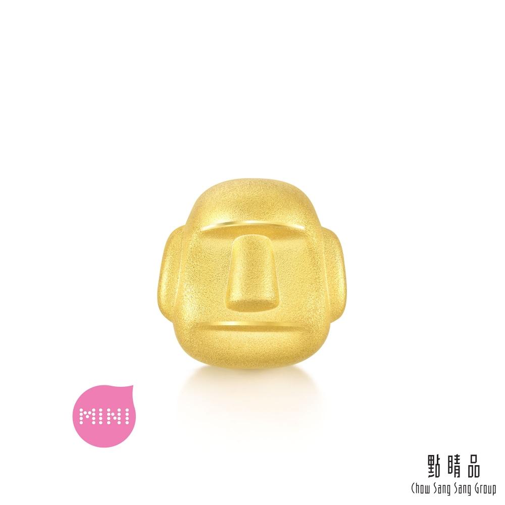 點睛品 999純金 Charme Mini 摩艾石像 黃金串珠