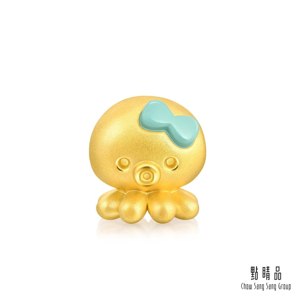 點睛品 999純金 Charme 八爪章魚 黃金串珠