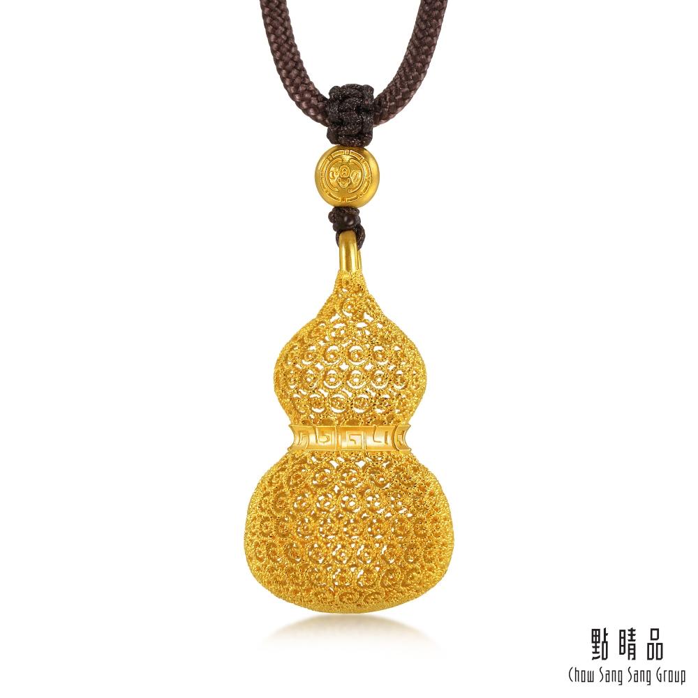 點睛品  東方古祖 古典葫蘆 古法黃金項鍊_計價黃金