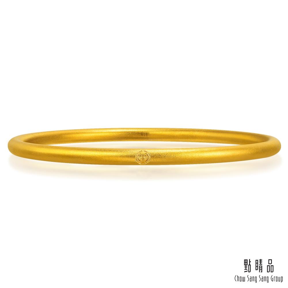 點睛品 經典實心 黃金手環/手鐲_計價黃金