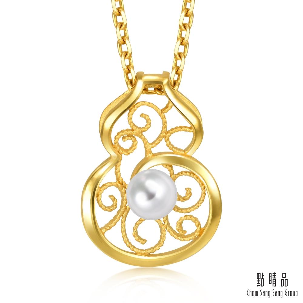 點睛品  珍珠葫蘆 黃金吊墜_計價黃金