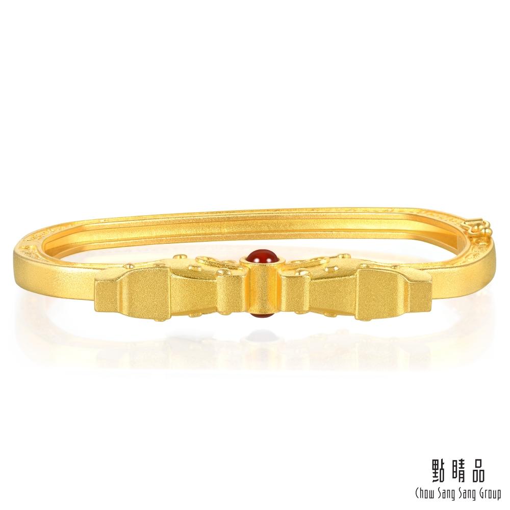 點睛品 東方古祖 祥龍吐珠 古法黃金手環/手鐲_計價黃金