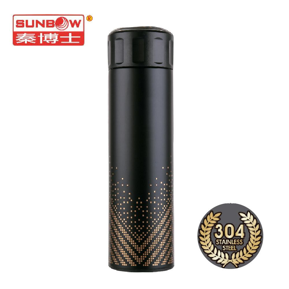 秦博士 內膽304不鏽鋼高真空金點杯(黑)500ml SCD500B