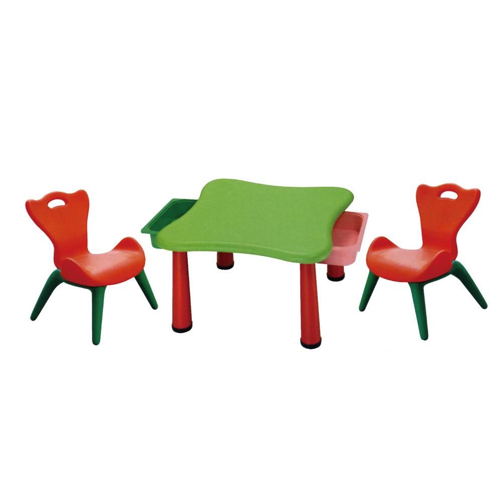 親親 兒童桌椅組(一桌兩椅附抽屜)FU-12 台灣製造