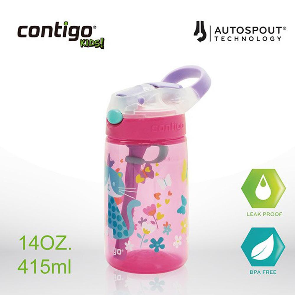 美國CONTIGO Striker兒童吸管瓶415ML (貓咪)