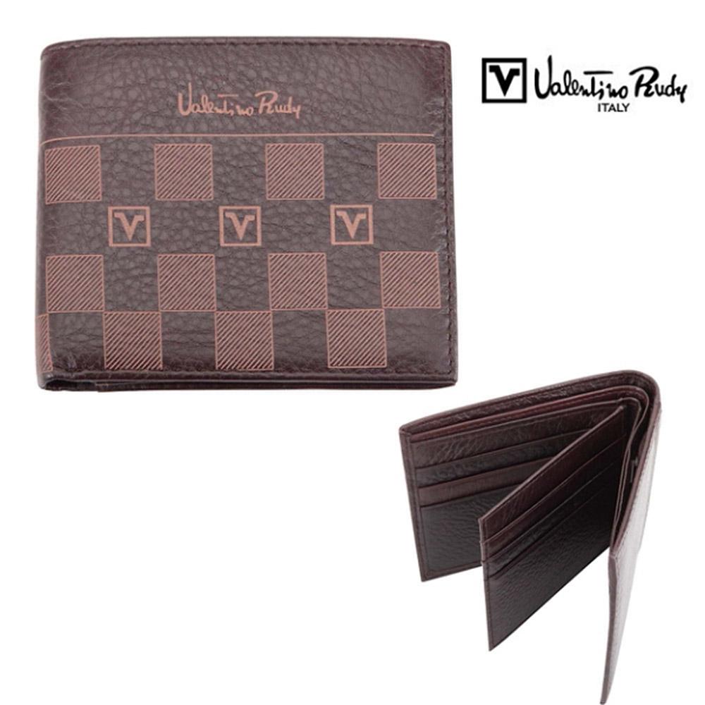 Valentino Rudy 附中頁荔紋方格紋9卡短夾 Z1801-1